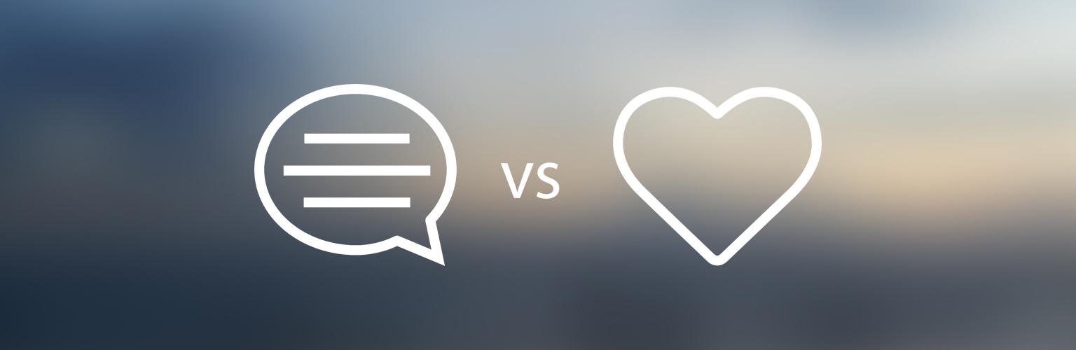 Palabras vs. Corazón